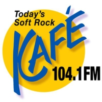 Logo of radio station KAFE 104.1