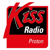Logo of radio station KISS Proton