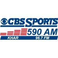 Logo of radio station KHAR 590