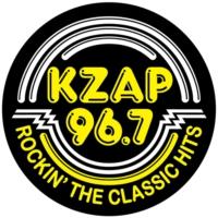 Logo of radio station KZAP 96.7