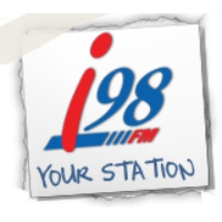 Logo of radio station I 98 FM