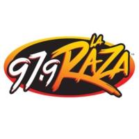 Logo of radio station KLAX-FM 97.9 La Raza