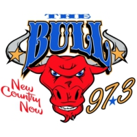 Logo of radio station KRJK The Bull 97.3