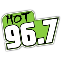 Logo of radio station KDOG HOT 96.7