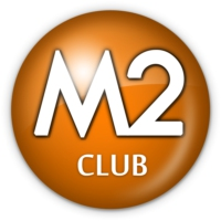 Logo of radio station M2 CLUB