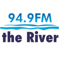 Logo of radio station KRVB 94.9 The River