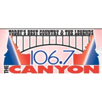 Logo of radio station KYUN The Canyon 106.7