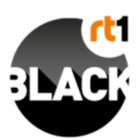 Logo of radio station RT1 Black