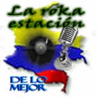 Logo of radio station La Roka Estacion