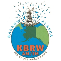 Logo of radio station KBRW NPR