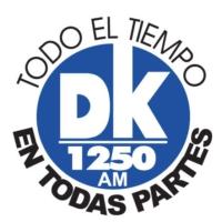 Logo of radio station XEDK-AM DK 1250