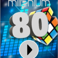 Logo of radio station MILLENIUM 80