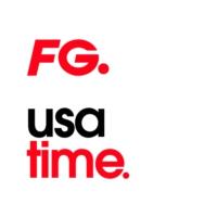 Logo of radio station FG USA TIME