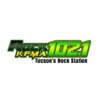 Logo of radio station KFMA Rock 102.1