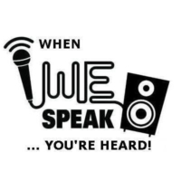 Logo of radio station WE Speak