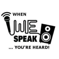 Logo of radio station WE Speak
