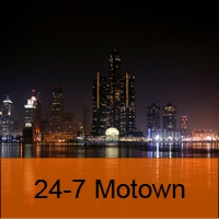 Logo of radio station 24-7 Motown