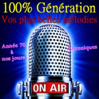 Logo of radio station 100% Génération