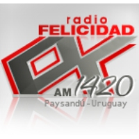 Logo of radio station CX 142 Radio Felicidad