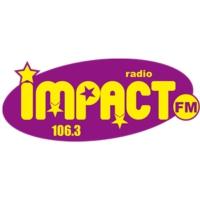 Logo de la radio Impact Fm annees 80