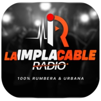 Logo of radio station La Implacable Radio