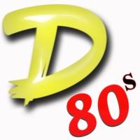 Logo of radio station #1 D 80s