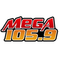 Logo of radio station XHNA-FM Mega 105.9