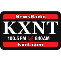 Logo of radio station KXNT - FM