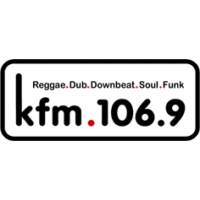 Logo of radio station KFM 106.9