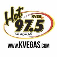 Logo of radio station Hot 97.5 KVEG