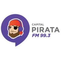 Logo of radio station Pirata FM Cancún
