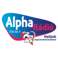 Logo of radio station Alpha Rádió
