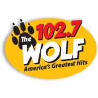 Logo de la radio KWVF The Wolf 102.7
