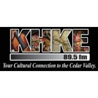 Logo of radio station KHKE