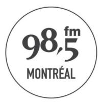 Logo of radio station 98.5 FM Montréal