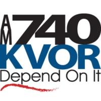 Logo of radio station KVOR