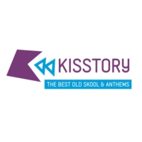 Logo of radio station KISSTORY