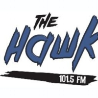 Logo of radio station 101.5 The Hawk