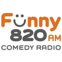 Logo of radio station Funny 820 AM Comedy Radio