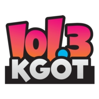 Logo of radio station 101.3 KGOT