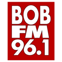 Logo of radio station KSRV 96.1 BOB FM