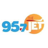 Logo of radio station KJR-FM 95.7 The Jet Seattle