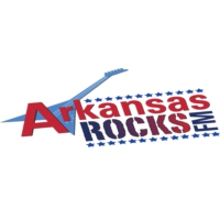 Logo of radio station KHGG Arkansas Rocks FM