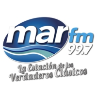 Logo of radio station MarFM 99.7 Veracruz