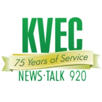 Logo of radio station KVEC