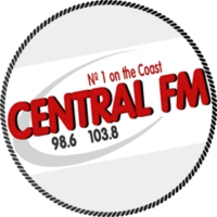 Logo of radio station Central FM 98.6 & 103.9