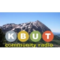 Logo of radio station KBUT