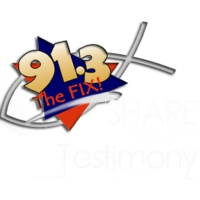 "Logo of radio station WFIX 91.3 ""The Fix"""
