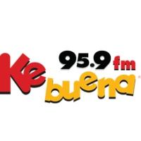 Logo of radio station XHCJU Ke Buena Puerto 95.9