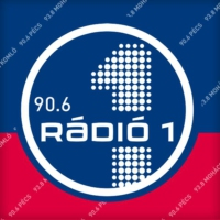 Logo of radio station Rádió 1 Pécs